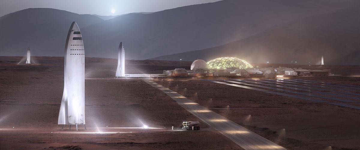 Илон Маск: «Первые колонисты Марса будут жить под стеклянными куполами»